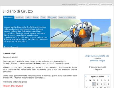 Home Page - Il diario di Ciruzzo