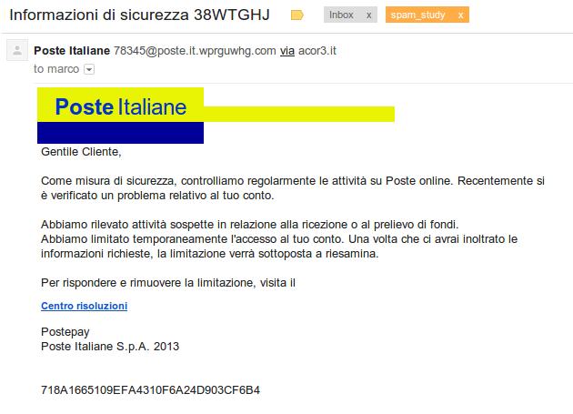 phishing: PosteItaliane - Informazioni di sicurezza ...