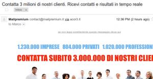 spam-Contatta 3 milioni di nostri clienti - Ricevi contatti e risultati in tempo reale