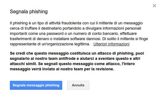 segnalazione phishing google