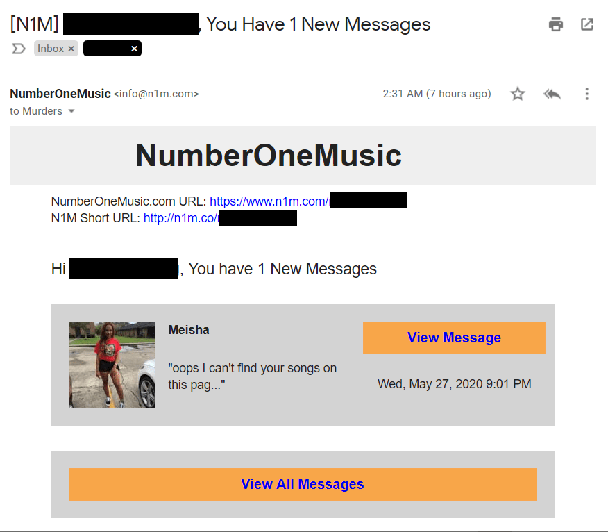 spam NumberOneMusic
